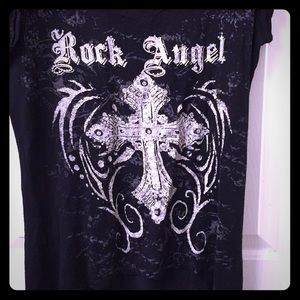 Rock Angel with glitter bling and back wings!!